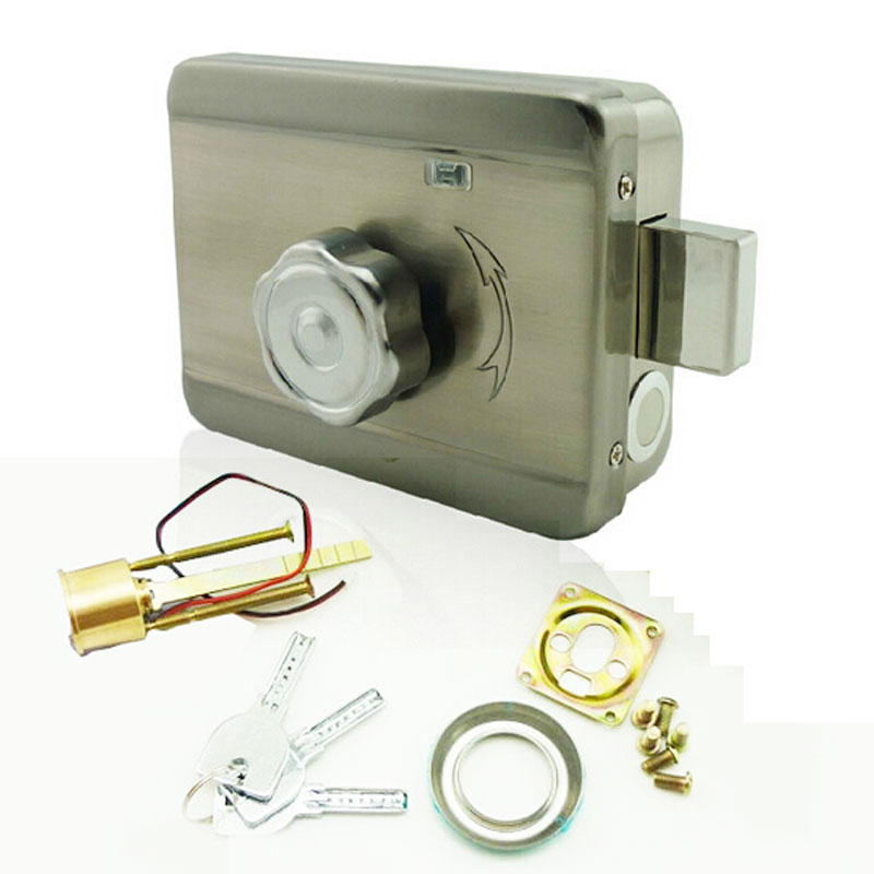 electric electronic door lock remote access video intercom doorphone deadbolt