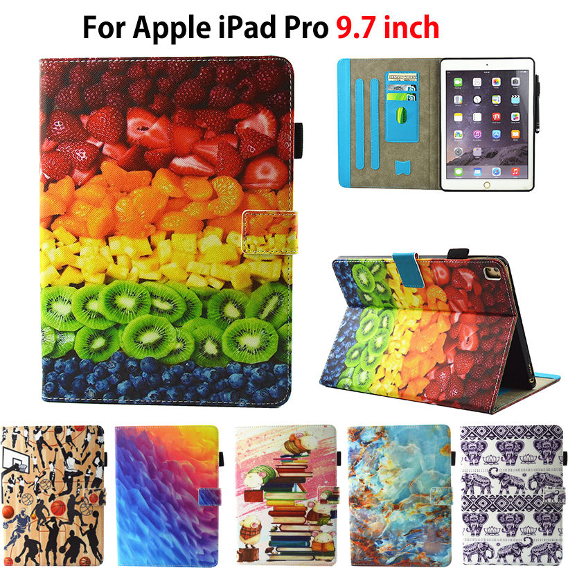 Case For iPad Pro 9.7 Cover Stand Silicone leather Marble Pattern Printed Funda Case For Apple iPad Pro 9.7 inch 2016 Release shockproof case for ipad pro 10 5 military duty armor kickstand pc silicone stand cover case for apple ipad pro 10 5 inch tablet
