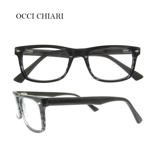 OCCI CHIARI Acetate Eyeglasses For Men Brand Designer Prescription ...