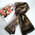 Fashion Cashew Flowers Pure Silk Men's Scarf Autumn And Winter Double Layer Neckerchief For Gift