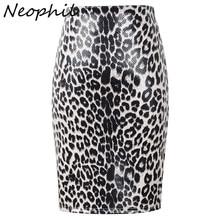 Neophil, высокая талия, Леопардовый принт, замша, кожа, для девушек, юбки-карандаш,, зима, бодикон, для женщин, длина до колена, юбки-трубы, Saia S1913