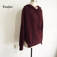 Knitted Pure 100% Real Mink Cashmere Women Sweater Natural Mink Cashmere Pullovers tbsr320