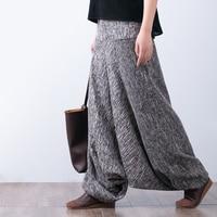 2017 Female Spring Fluid Linen Casual Pants Harem Pants Wide Leg Pants Culottes Big Crotch Pants