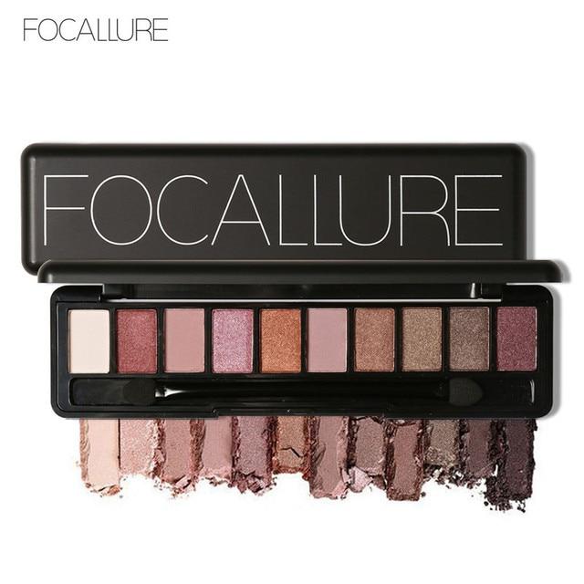 Focallure 2018 New Eyeshadow Palette 10 Colors Waterproof Eye Makeup