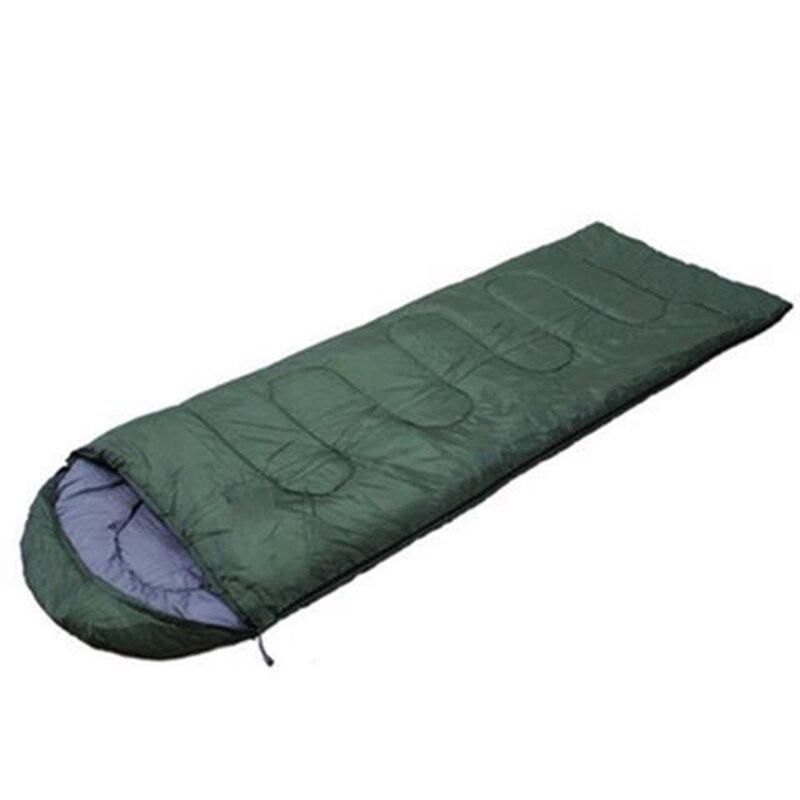 Спальный мешок для кемпинга, теплый зимний спальный мешок для взрослых, спальный мешок для путешествий, Прямая поставка - Цвет: Армейский зеленый