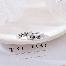 Романтические кольца для влюбленных пар, регулируемые, 925 пробы, серебряные, для влюбленных, обещают, обручальные кольца, модные свадебные ювелирные изделия