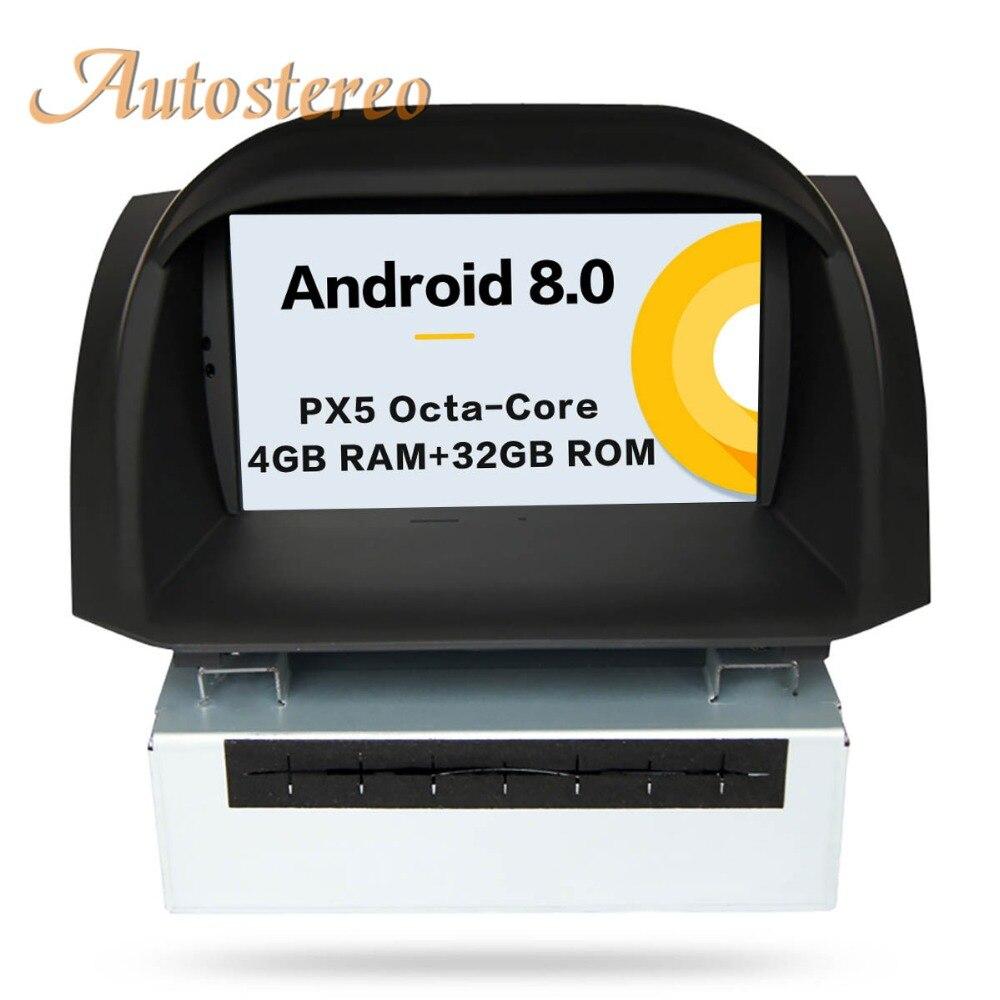 Autostereo Android 8 Voiture DVD Stéréo Pour Ford Fiesta 2013 2014 2015 2016 GPS Navigation Vidéo Multimédia radio head unit tapis De bande