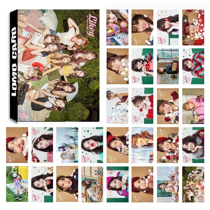 New 30Pcs/set KPOP TWICE 05 Album Photo Card PVC Cards Self Made LOMO Card Photocard