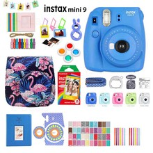 Fujifilm Instax Mini 9 Instant Photo Camera 5 Colors+Rainbow Film+Accessory Kit PU Bag Case+Album+Lens Filter+Stickers+Frame...