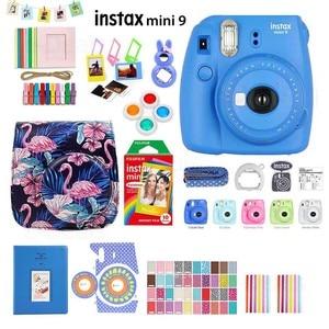 Image 1 - Fujifilm Instax Mini 9 cámara de fotos instantáneas, 5 colores, película arcoíris, Kit de accesorios, funda de PU, álbum, filtro de lente, pegatinas, Marco