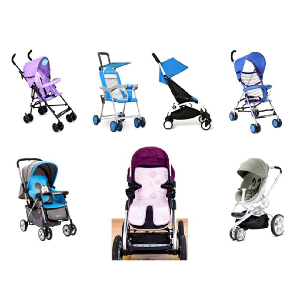 for Baby Carriage Stroller Mat Baby Chair Mat Thin Soft Cool Mat Surface : Ice Silk Fiber 74*34cm Baby Care Seat Pad Protector