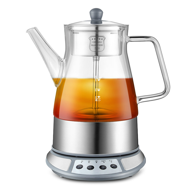 Brew tea ware black glass automatic electric kettle steam boiling pu 'er pot black tea brewed machine glass automatic steam boiling pu er flower teapot insulation electric kettle