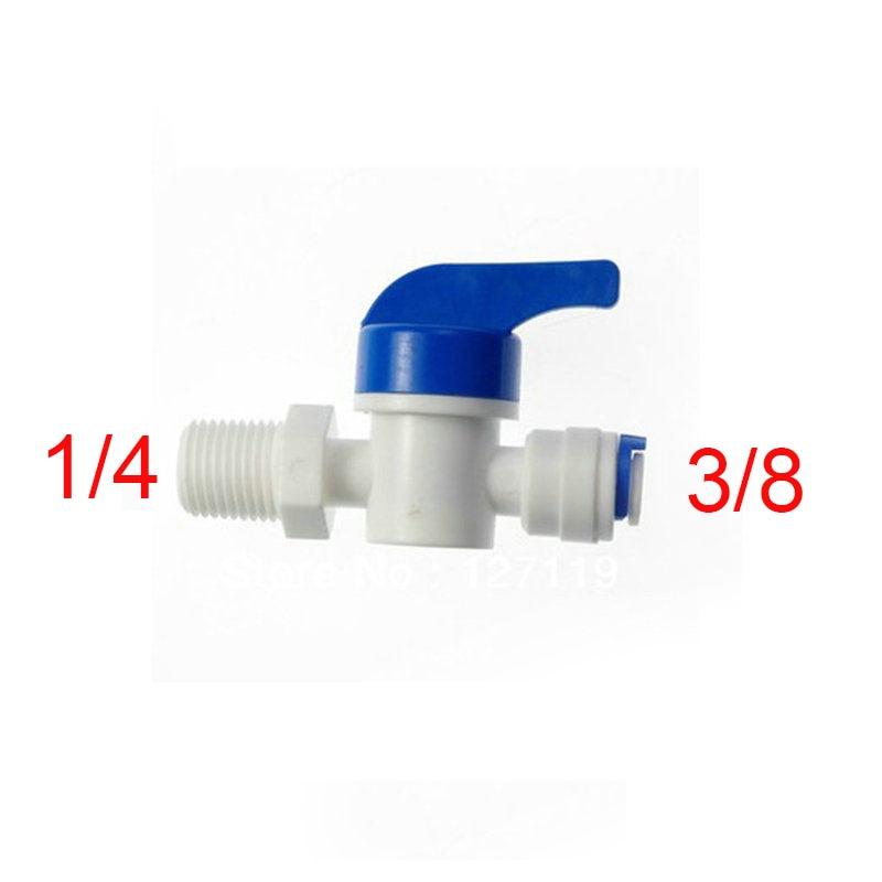 2 Pcs 1/4Male-3/8 Tube Ball Valve Swicth RO Wate RO Water ST025D