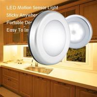 Sensor light 3pcs wireless automatic motion 6 LED round body sensor light cabinet