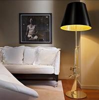 Salon Lampa Podłogowa Przez Philippe Starck Pistolet Pistolet AK47 stoi światła sypialni projektowanie mody Złoty Chrome