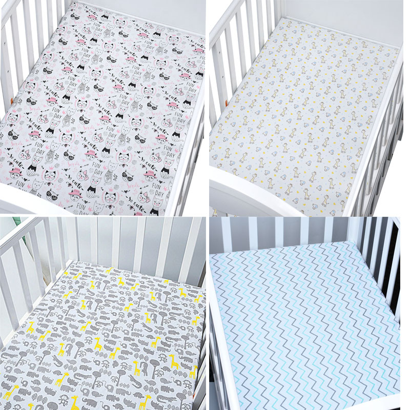 Crib Sheets Fits For Babies And Toddlers In Bedding Set Muslinlife Cotton Crib Mattress Protector Baby Bed Sheet For Crib Size