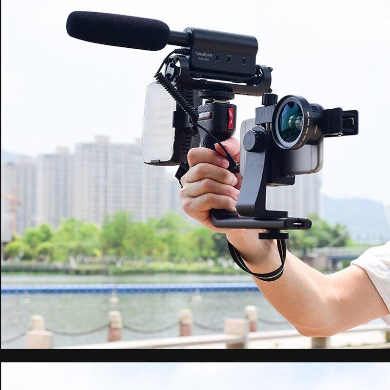 L Selfie Stick für android für Iphone Bluetooth Fotografie Stabilisator Fotografie Halterung Mikrofon Füllen Licht Live Stabilisator-in Selfie-Stöcke aus Verbraucherelektronik bei  Gruppe 1