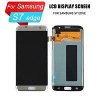 Замена ЖК дисплей для samsung galaxy s7 EDGE дискретизатор для экрана дисплея ЖК экран в сборе для samsung galaxy s7 EDGE g935f ЖК