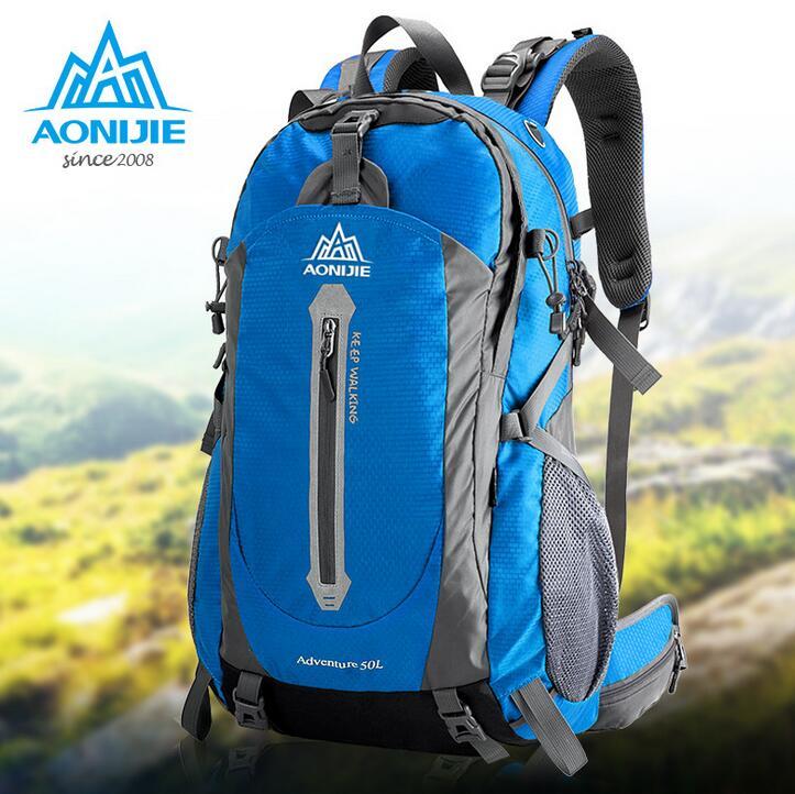 AONIJIE Outdoor Sport Bag Travel Backpack Climbing Backpack Schoolbag Climb Knapsack Hiking Backpack Camping Packsack 40L 50L huwaijianfeng 50l outdoor sport traveling climbing backpack multifunctional hiking bag