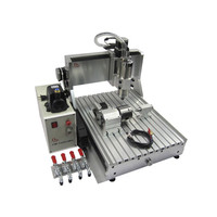 4axis cnc wood machinery 3040Z VFD1.5KW with rotary axis and 1.5KW spindle for metal 3D cnc router