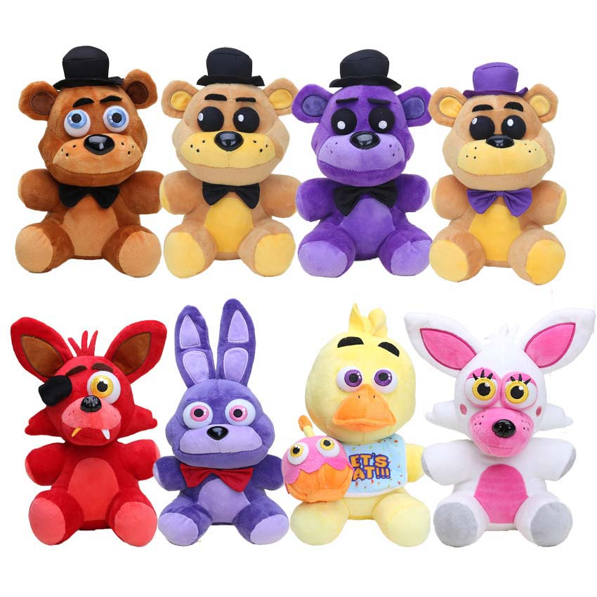 25cm Game FNAF Five Nights At Freddy's Sister Location Red Foxy Mangle Golden Shadow Freddy Bear Chica Bonnie Plush Doll Toys