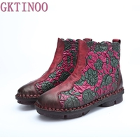 2017 New Style Martin Boots Genuine Leather Ankle Shoes Vintage Women Shoes Winter Handmade Boots For