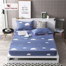 Slowdream 1PCS Cloud Mattress Cover Fitted Sheets On Elastic Band Rubber Sheet Bed Linen Nordic Corners Double Size