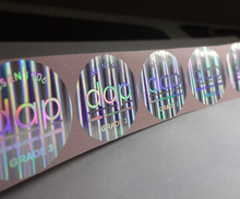 Free design ! secure genuine custom made hologram sticker , void if removed