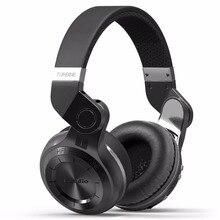 سماعات بلوتوث بلوديو T2 + استريو قوي جهير 5.0 سماعة رأس لاسلكية تدعم راديو FM بطاقة ميكرو SD تشغيل مع ميكروفون