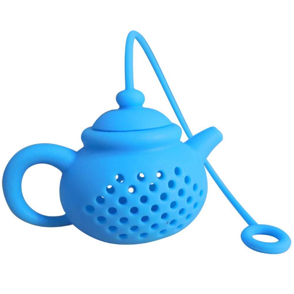Details About Teapot-Shape Tea Infuser Strainer Silicone Tea Bag Leaf Filter Diffuser Colador de te Tea Tools Supplies New Q4