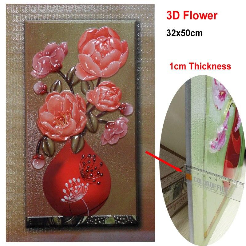 Kitchen Art 32cm: ᗖ50*32cm 3D Flower ᗗ Painting Painting Wall Stickers