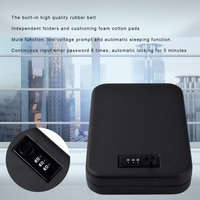 Gun Safes Security Box 3 Digit Password Box Portable Secret Security Strongbox For Valuables Jewelry Cash