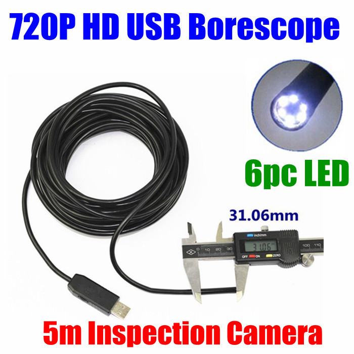 factory Super Mini USB Pipe Inspection Borescope Endoscope Tube Snake waterproof IP67 5M cable camera 720p HD Cam supereyes 3 5 monitor waterproof borescope videoscope 9mm diameter 800mm snake tube endoscope camera with led inspection n012j