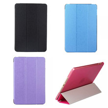Best CSW-3zhe Luxury Ultra Slim Stand Flip Smart Silk PU Leather + Colorful Transparent Back Cover Case for iPad Mini 4 Mini4(China)