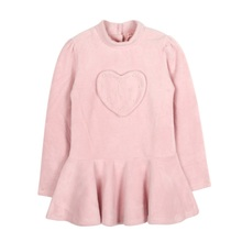 Fashion Girls Winter Thickening Long-sleeved Warm Sweaters Clothes Sweet Cute High-necked Children's Shirt Pink Purple