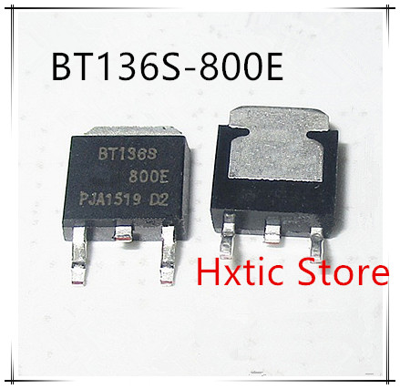 10PCS/LOT BT136S-800E BT136S-800 BT136S BT136 4A 80V TO-252 SMD TRIAC