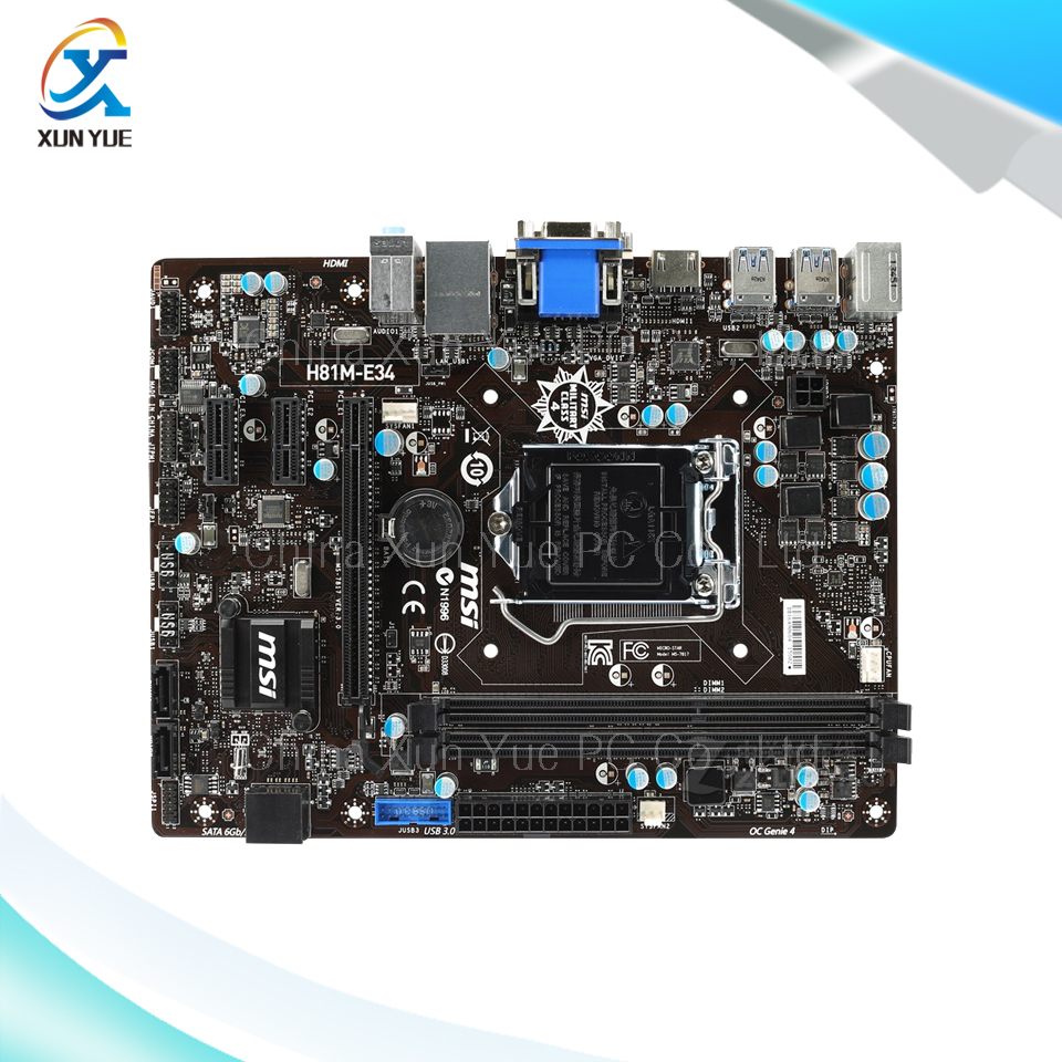 New asus h81m k motherboard cpu i3 i5 i7 lga1150 intel h81 ddr3 sata3 - For Msi H81m E34 Original Used Desktop Motherboard For Intel H81 Socket Lga 1150 For