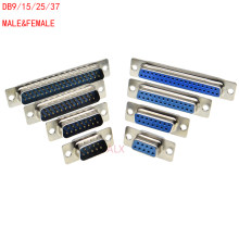 5 Pcs DB9 DB15 DB25 DB37 Lubang/PIN WANITA/Pria Biru Dilas Konektor RS232 Serial Port Soket DB d-SUB Adaptor 9/15/25/37 Pin(China)