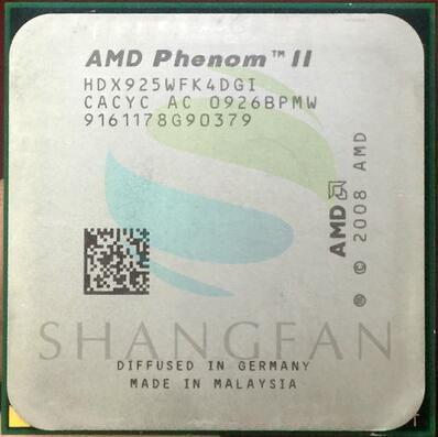 AMD Phenom X4 925 2.8GHz Quad-Core CPU Processor HDX925WFK42GI HDX925WFK42GM 95W Socket AM3 938pin