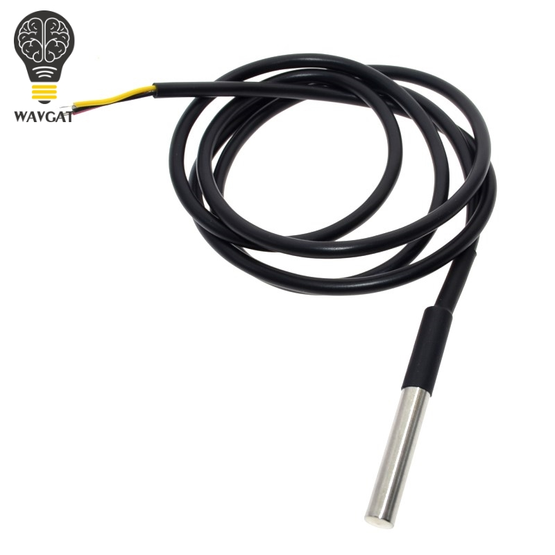 Free Shipping 10PCS Digital Temperature Temp Sensor Probe <font><b>DS18B20</b></font> For Thermometer <font><b>1m</b></font> Waterproof 100CM image