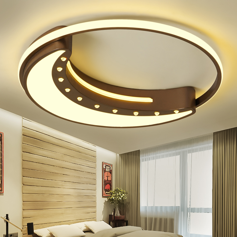 Us 84 16 23 Off Acrylic Modern Ceiling Lights For Living Room Bedroom White Simple Plafon Led Lamp Home Lighting Fixtures Ac85 260v In