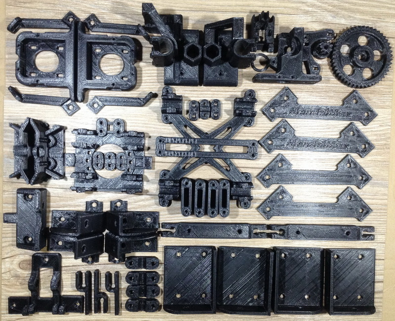 Reprap MendelMax1.5 Printed Parts Set 3D Printer Mendelmax 1.5 Plastic Parts KIT hot sale reprap wilson ts 3d printer required abs plastic parts set printed parts kit free shipping