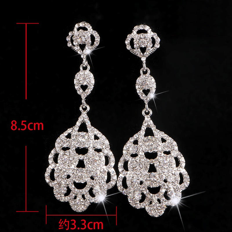 925 sterling silver vintage long earrings for women 585 gold plated Austrian crystal jewelry brincos de festa wedding bridal accessories gifts HB025 (5)