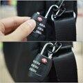 TSA Resettable 3 Digit Dial Combination Travel Suitcase Luggage Bag Security Code Lock Padlock Black Zinc Alloy HS162+