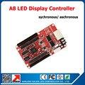 Асинхронный/синхронный полноцветный СВЕТОДИОДНЫЙ контроллер дисплея видеокарты A8 led платы управления бесплатная доставка