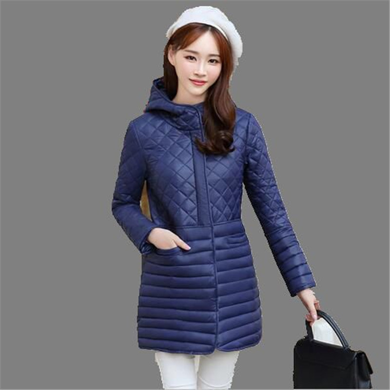 Korea 2016 New Preppy Women Jacket Winter Thicken Down Cotton Jacket Big Yards Hooded Padded Coat