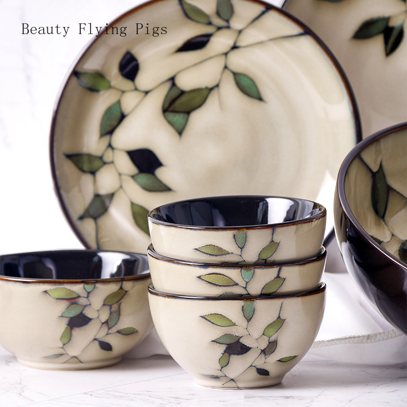 Hand-Painted Japanese Ceramic Dishes Set 1