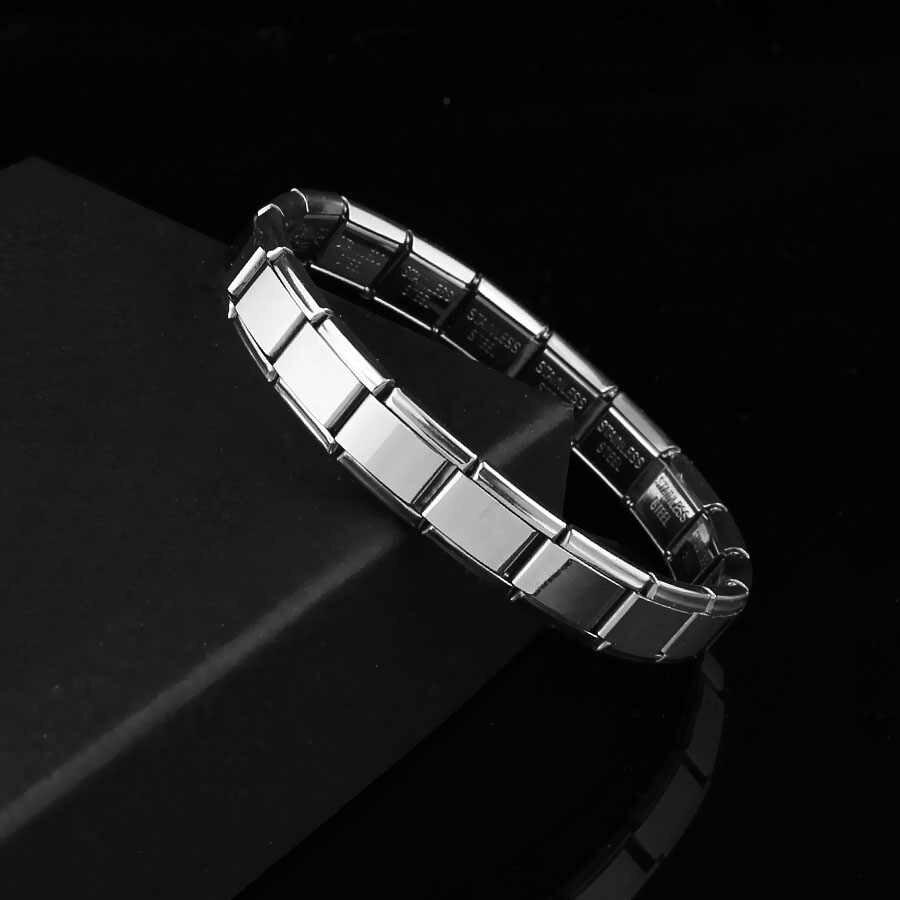 Pulseras para Mujeres Hombres 2019 Nueva joyería de moda 9mm de ancho elástico pulseras brazaletes de plata de moda brazalete de acero inoxidable