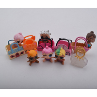 Plastic Baby Sister Doll Dress Up Doll With Bag Without Ball