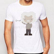 New Fashion Men t shirt Science Albert Einstein Equation Printed Tee Shirts Short Sleeve Casual Tops Funny Men Cloths